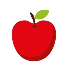 Apple fresh fruit isolated icon design vector