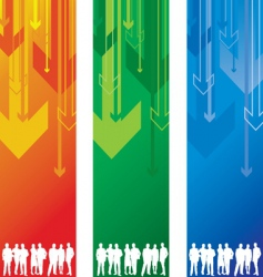 arrow banner people vector image