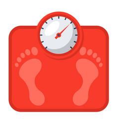 bathroom scales icon vector image vector image