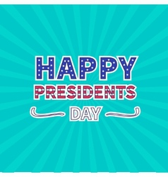 Blue sunburst with ray of light presidents day vector