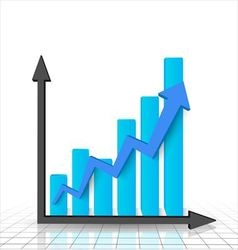 Business graph and chart vector image vector image