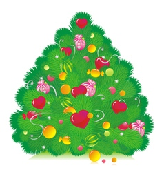 christmas furtree vector image vector image