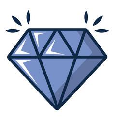 Crystal icon cartoon style vector