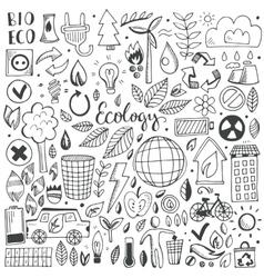 Hand drawn sketch elements set vector image