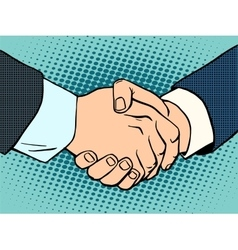 Handshake business deal contract vector image vector image