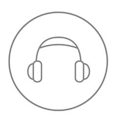 Headphone line icon vector image vector image