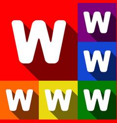 Letter w sign design template element set vector