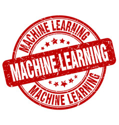Machine learning red grunge stamp vector