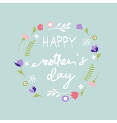 Mothers Day floral pattern vector image vector image