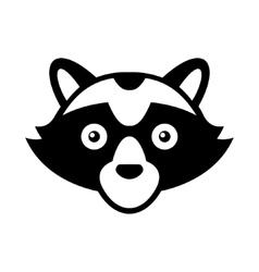 Raccoon head logo style icon vector