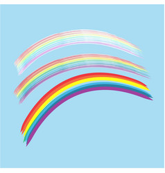 rainbow on sky sign vector image vector image
