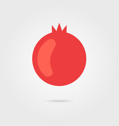 Red pomegranate icon with shadow vector