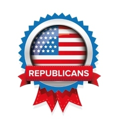 Republicans election badge vector image vector image