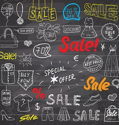 Sale signs and price discount tags shopping vector image vector image