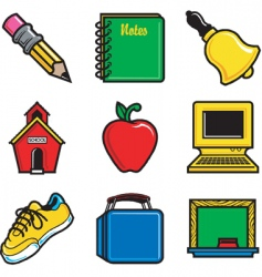 School icons vector