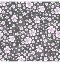 Seamless floral pattern with pink colored flowers vector