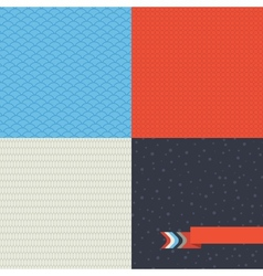 Seamless set of retro pattern vector image vector image