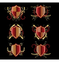 set of boards with ornaments vector image