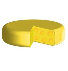 Slices of cheese lika a circle vector image vector image