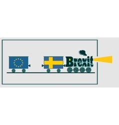 Sweden and eu relationships brexit text vector