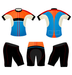 T-shirt cycling vest colors vector