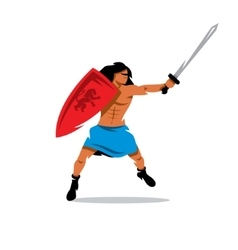 Warrior man cartoon vector