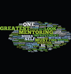 Your greatest mentor is you text background word vector