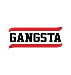 Black red text gangsta rap vector