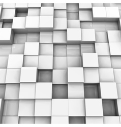 White brick wall with random height bricks vector