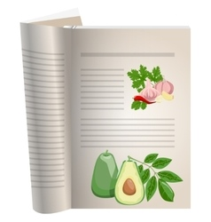 Template pages of a cookbook vector