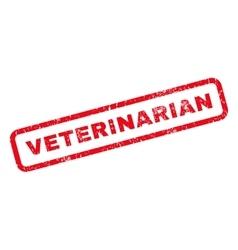 Veterinarian rubber stamp vector