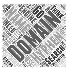 Hyphenated domain names word cloud concept vector