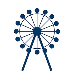 Icon ferris wheel vector