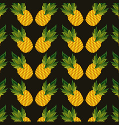 Pineapples background design vector