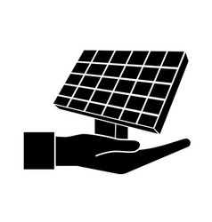 Contour hand with solar energy element to reuse vector
