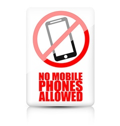 No mobile phone allowed sign vector