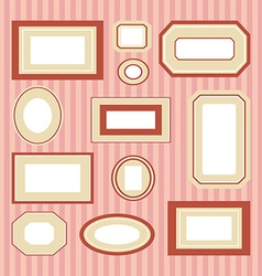 Set of colored frames vector