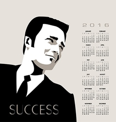 2016 business man calendar vector