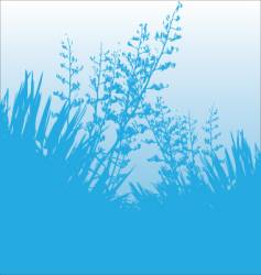 Blue flax vector