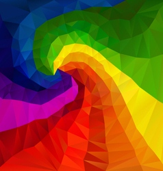 Rainbow spectrum spiral polygon triangular pattern vector