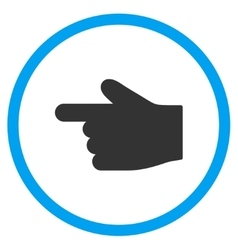 Left index finger icon vector