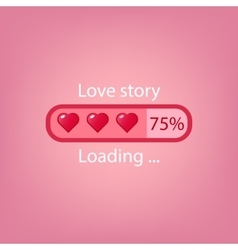 Abstract creative concept progress load bar vector