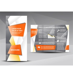 Brochure origami element design vector