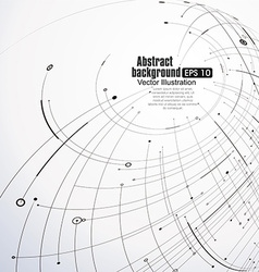 Point and curve constructed the sphere wireframe vector
