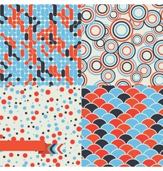 Seamless set of retro pattern Stylish background vector image