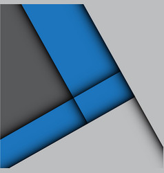 abstract blue arrow gray modern vector image