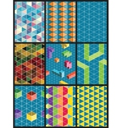 abstract pattern backgrounds vector image vector image
