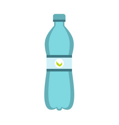 Blue bottle of water icon flat style vector