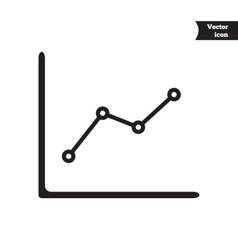 Business progress chart vector image