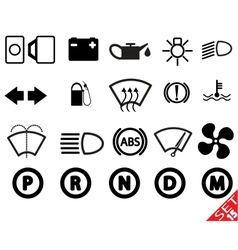 car part icon set 15 vector image
